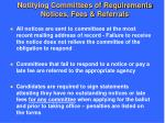 notifying committees of requirements notices fees referrals1