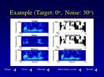 example target 0 o noise 30 o