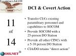 dci covert action