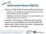 differential boost anova