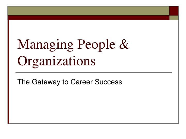 managing people organizations n.