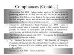 compliances contd