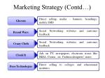 marketing strategy contd