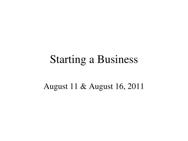 starting a business n.