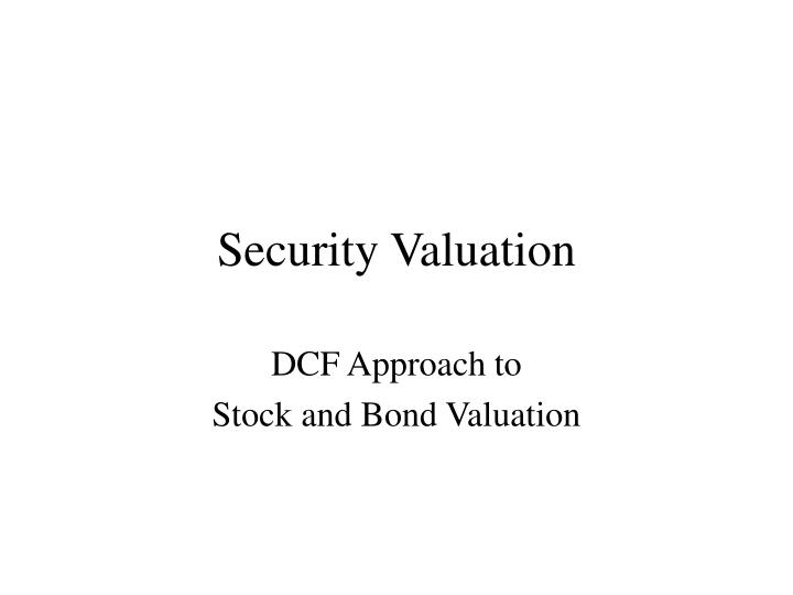 security valuation n.