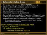 7 columnstore index usage