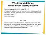 wv s expanded school mental health esmh initiative