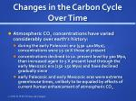changes in the carbon cycle over time