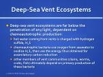deep sea vent ecosystems