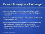 ocean atmosphere exchange