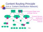 content routing principle a k a content distribution network1