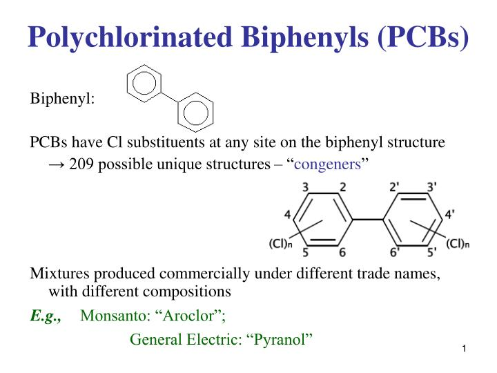 polychlorinated biphenyls pcbs n.