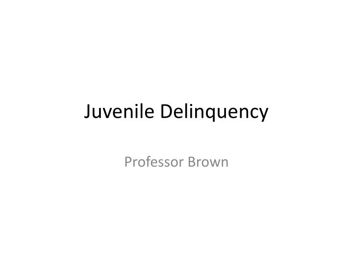 causes and effects of juvenile delinquency essay Introduction juvenile delinquency remains a major social problem in the united states despite the falling overall rates of crime in the country.