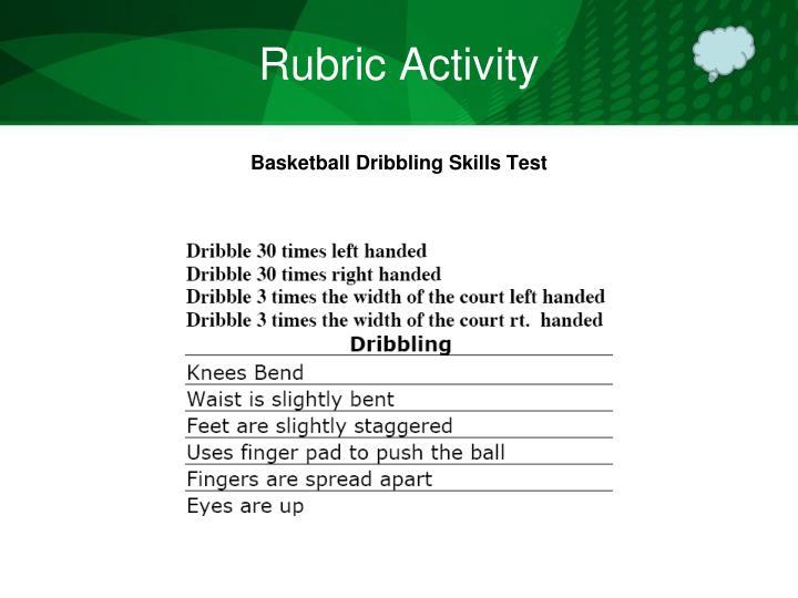 Rubric Activity