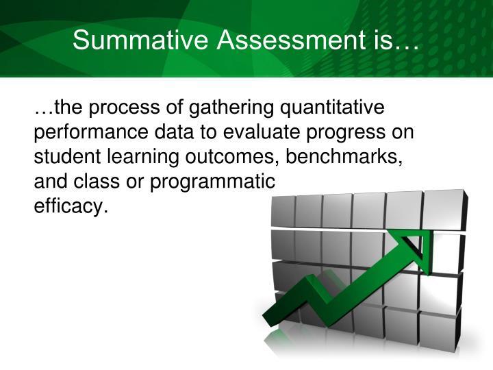 Summative Assessment is…