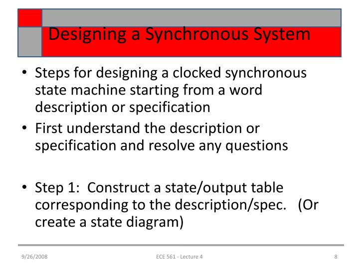 Designing a Synchronous System