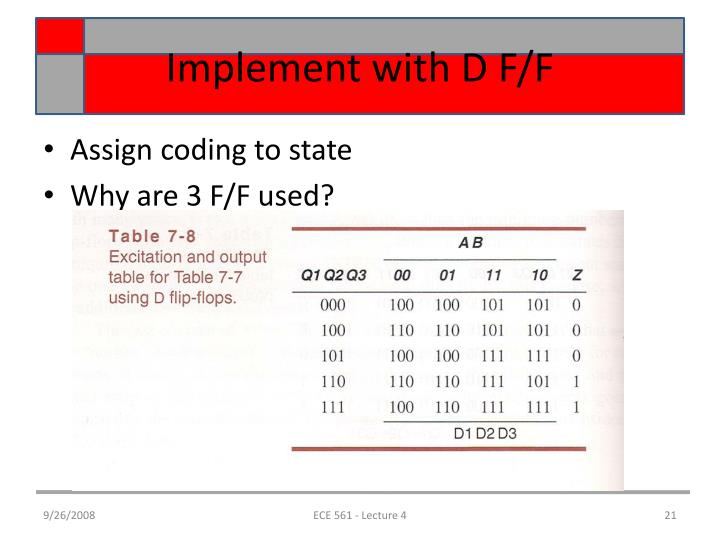 Implement with D F/F