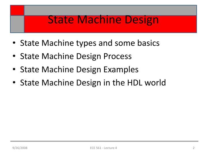 State machine design