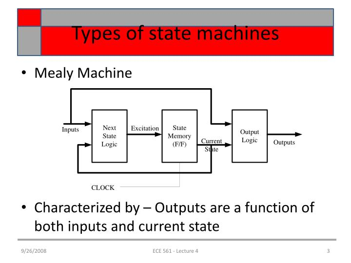 Types of state machines