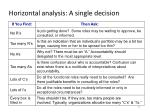 horizontal analysis a single decision