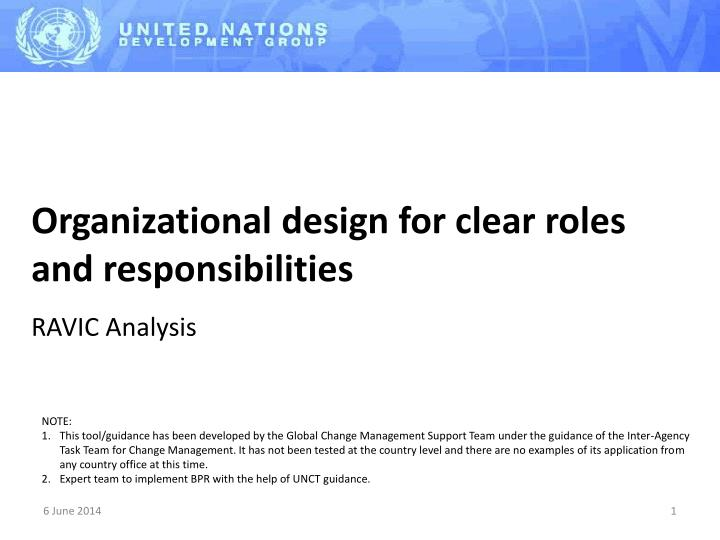 organizational design for clear roles and responsibilities n.