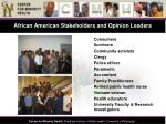 african american stakeholders and opinion leaders