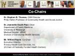 co chairs