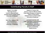 contributing faculty staff