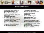 member affiliations