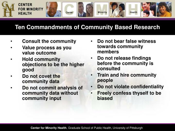 Consult the community