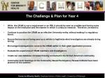 the challenge plan for year 4