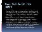 boyce code normal form bcnf