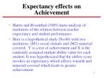 expectancy effects on achievement