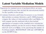 latent variable mediation models