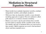 mediation in structural equation models