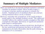 summary of multiple mediators