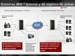 sistemas ibis forense y de registro de armas