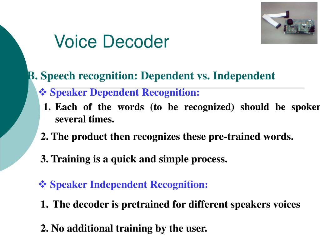 PPT - Speech Controlled Automated Systems PowerPoint Presentation