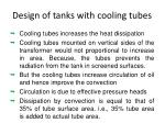 design of tanks with cooling tubes