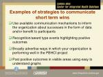 examples of strategies to communicate short term wins