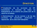 directrices