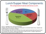 lunch supper meal components all components must be served as a unit