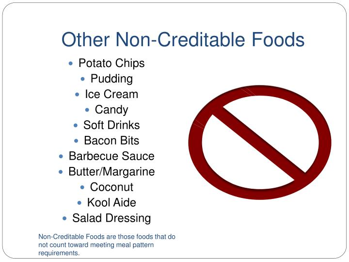 Other Non-Creditable Foods