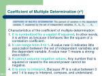 coefficient of multiple determination r 2