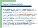 durbin watson statistic1