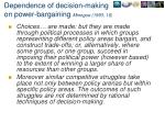 dependence of decision making on power bargaining minogue 1993 16