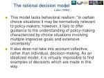 the rational decision model lane 1993