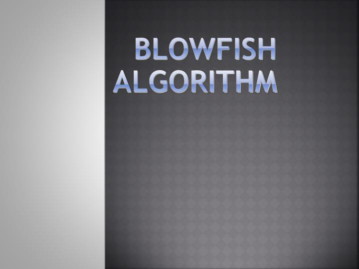 blowfish algorithm n.