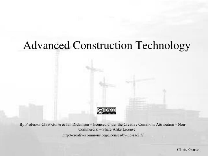 advanced construction technology n.