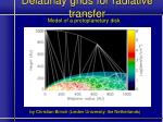 delaunay grids for radiative transfer